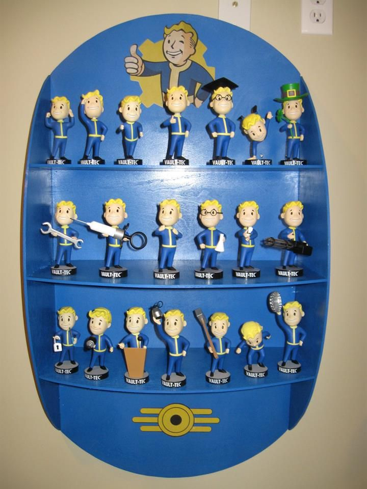 Fall Out Boy Android Wallpaper Diy Fallout 4 Shelf With Vault 101 Vault 111 Bobbleheads