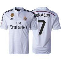 Real Madrid 14/15 RONALDO Home Soccer Jersey w/ Club World ...