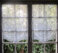 Grey Kitchen Curtains, Pair French Lace Curtains, Sheer ...