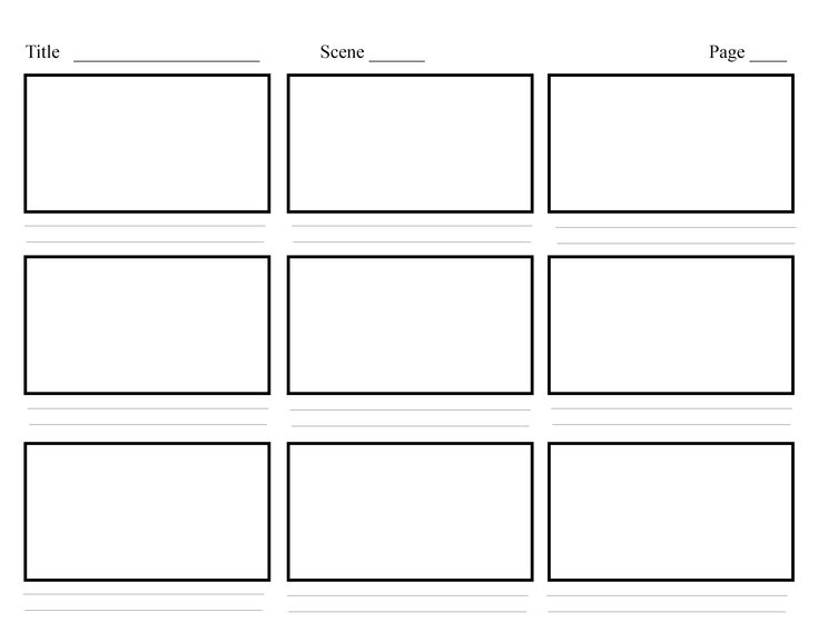 Storyboard Template Pdf Storyboard Template 77 Free Word Pdf Ppt - video storyboard template