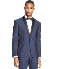 Bar III Slim-Fit Midnight Blue Shawl Collar Tuxedo Jacket ...