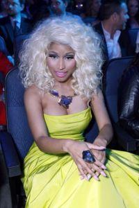 Princess pink stiletto nails on a very pretty Nicki Minaj ...