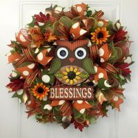 17 Best ideas about Owl Wreaths on Pinterest | Fall door ...