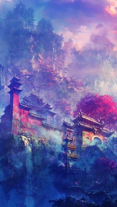 Asian Village In The Mountains Fantasy #iPhone #5s #Wallpaper | iPhone 5(s) Wallpapers ...