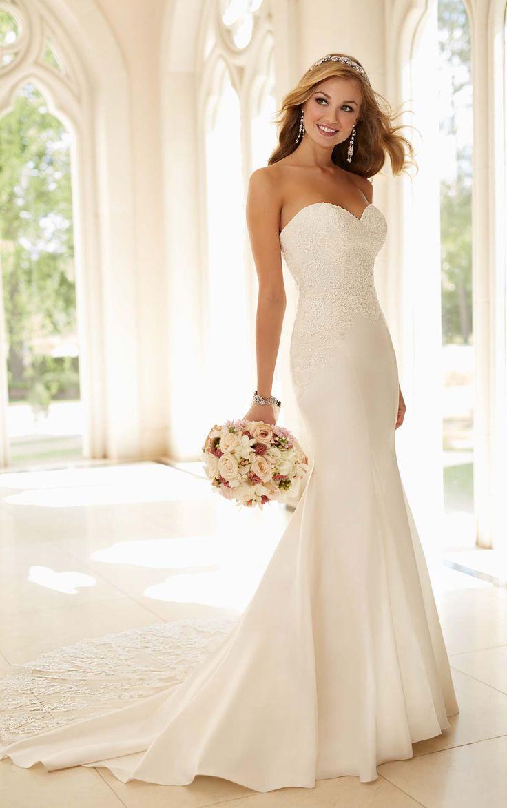 sophisticated wedding dresses simple elegant wedding dress Dolce Fit and Flare Dress Satin Wedding GownsElegant