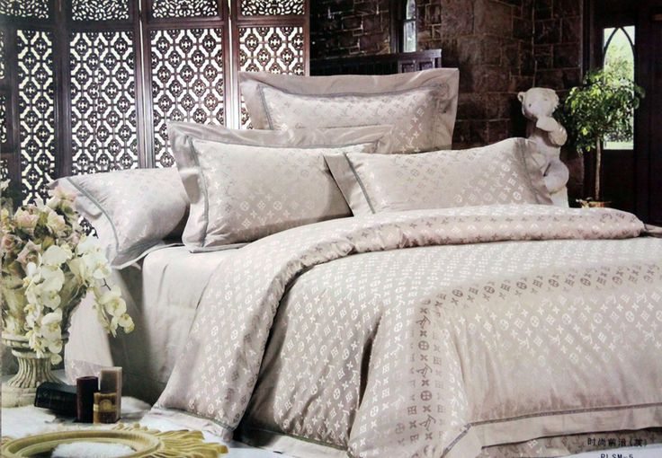 Bettwäsche King And Queen Bedding Set Lv Dior Chanel Burberry Versace Gucci
