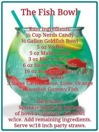 25+ Best Ideas about Fishbowl Drink on Pinterest | Fish ...