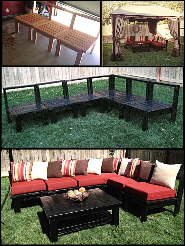 Patio Sectional Plans Diy Patio Furniture! My Husband Made This Sectional Sofa