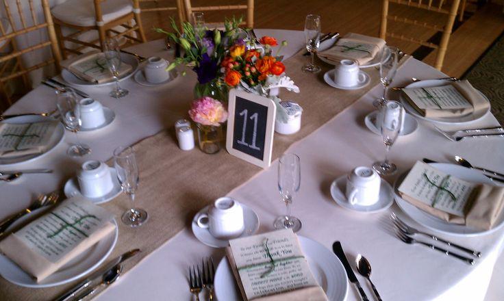 Weddings June 17 19th It Was A Good Week Burlap Table