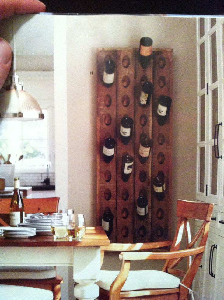 Pottery Barn Wine Rack Dream Kitchen Pinterest