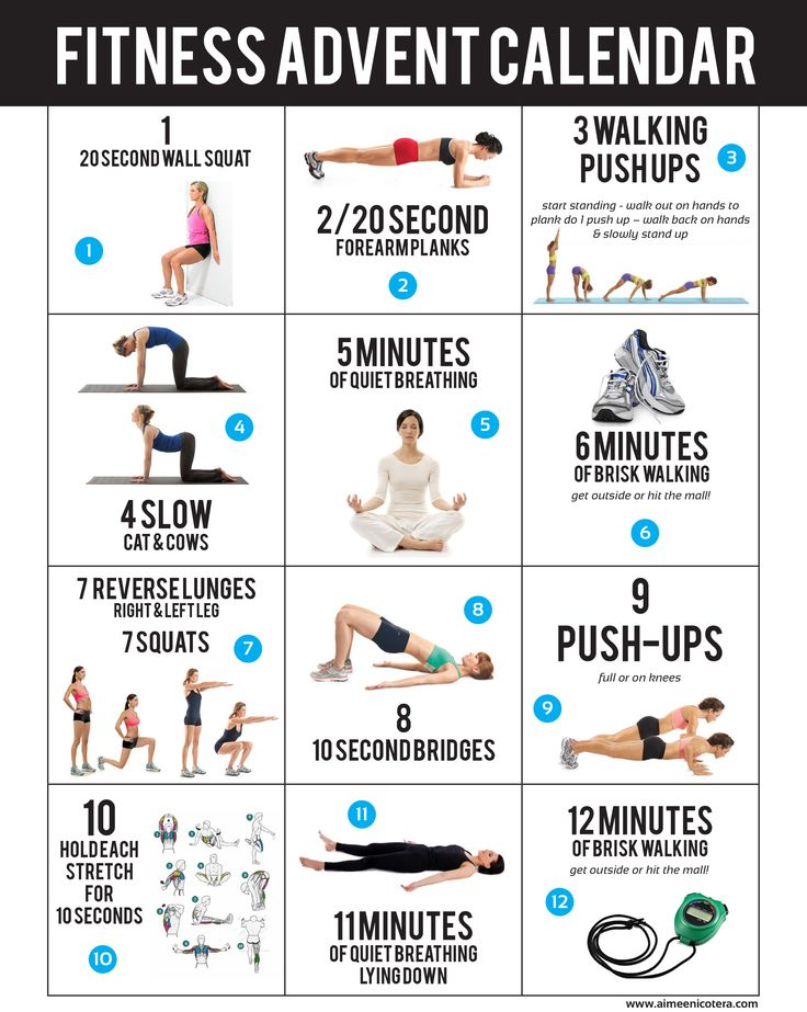 fitness advent calendar