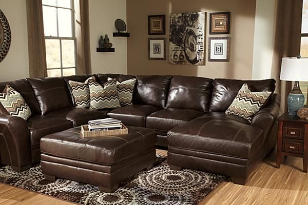The Beenison Chocolate Sectional From Ashley Furniture