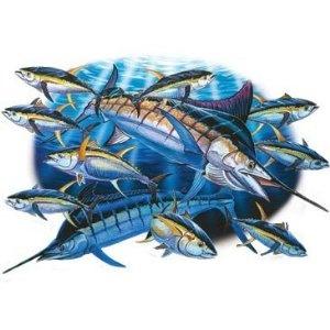 Hatchet Girl Wallpaper Marlin Amp Tuna Fishing T Shirt Apparel Gone Fishing