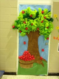 Apple tree top is made out of tissue paper so are the ...