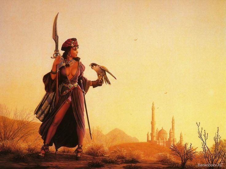 Beautiful Muslim Girl Hd Wallpaper Desert Warrior Rpg Characters Pinterest Art