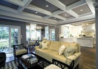 coffered ceiling | white kitchen, coffered ceiling in ...