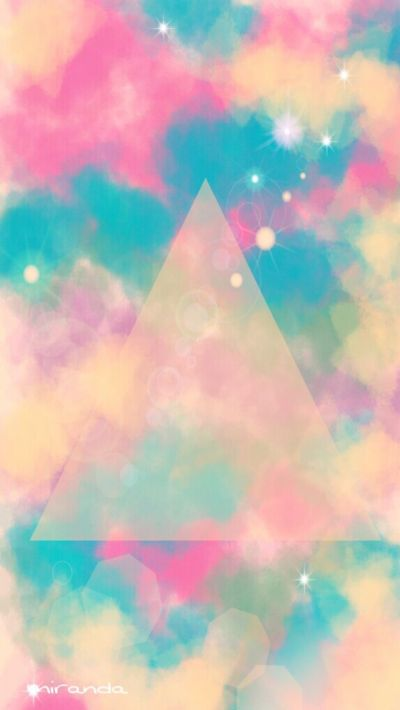 Pastel triangle wallpaper via Cocopapa | Fonts, Typography, Designs | Pinterest | Iphone 5 ...