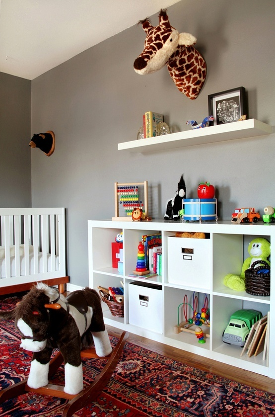 Ikea 8 Cube Storage Floating Shelf Above The Cube Storage. | Girls Bedroom