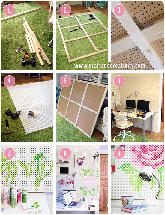 1000+ Ideas About Painted Pegboard On Pinterest | Peg Boards