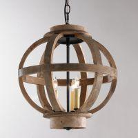 Mini Wood Globe Lantern