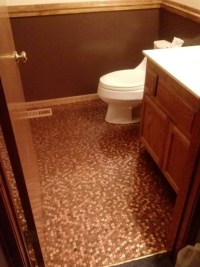 Bathroom penny floor   A Penny Saved   Pinterest ...