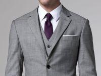 Grey suit with purple tie: Groomsmen Option, Essential ...
