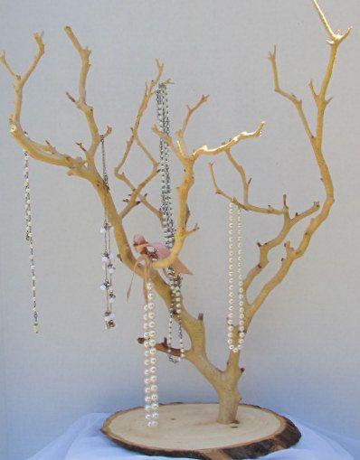Long Necklace Manzanita Jewelry Tree Stand By Manzalisa On