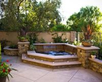 Hot tub or small pool idea - above ground with built in ...