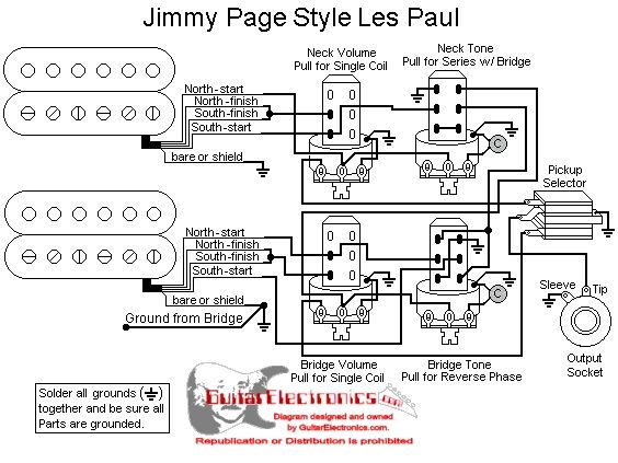 humbucker wiring diagram schematic jimmy page