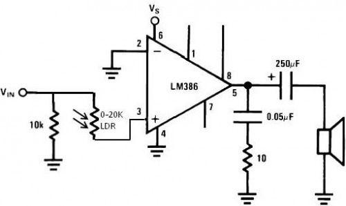 light dependent resistor build circuit