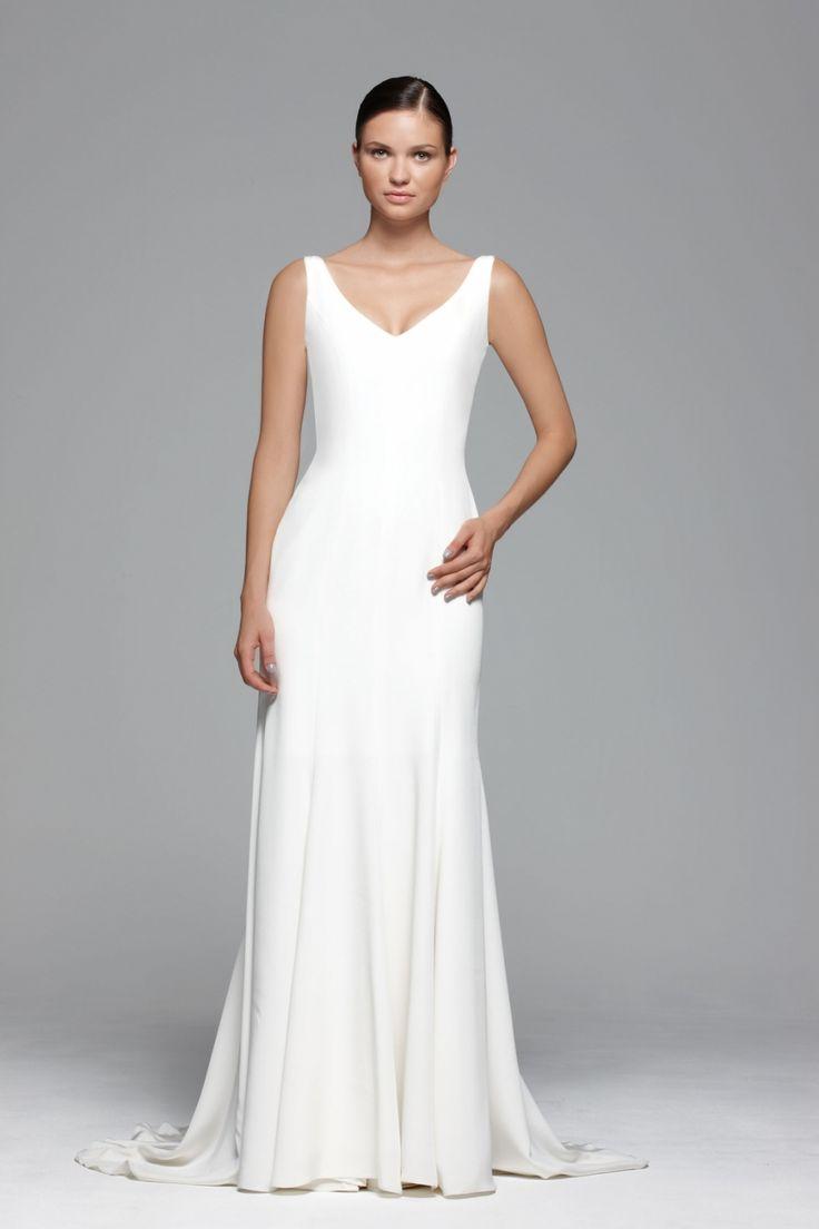 plain wedding dress plain wedding dresses 25 Best Ideas about Plain Wedding Dress on Pinterest Sophisticated bride Low back wedding gowns and Bateau wedding dress