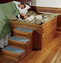 Elevated Dog Bed With Stairs | Kitty Cats | Pinterest ...
