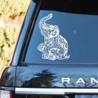 Elephant Car window Toilet washroom rest room Wall Decal ...