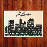 Atlanta, Atlanta Poster, Atlanta Poster Art, Wall Art ...