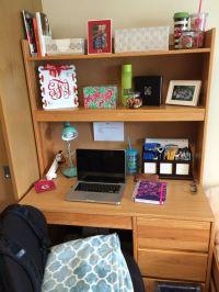 25+ best ideas about College desk organization on ...
