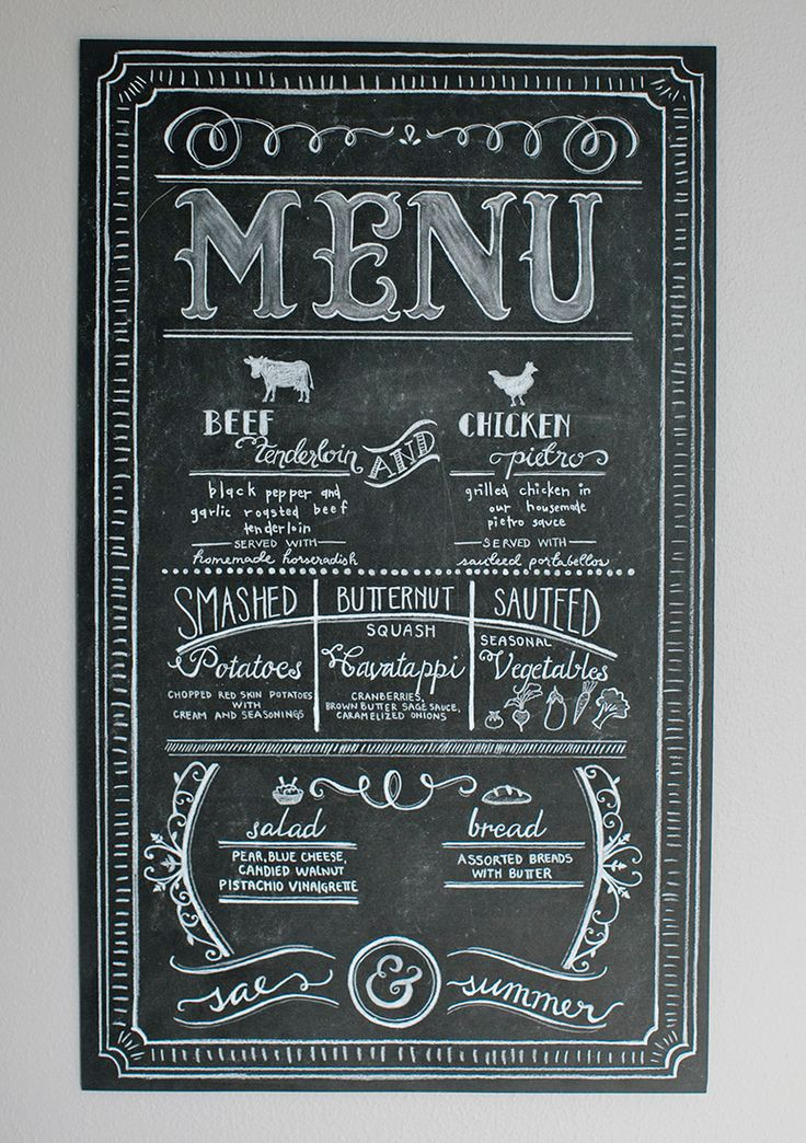 25+ best ideas about Chalk menu on Pinterest