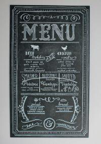 25+ best ideas about Chalk menu on Pinterest | Menu ...