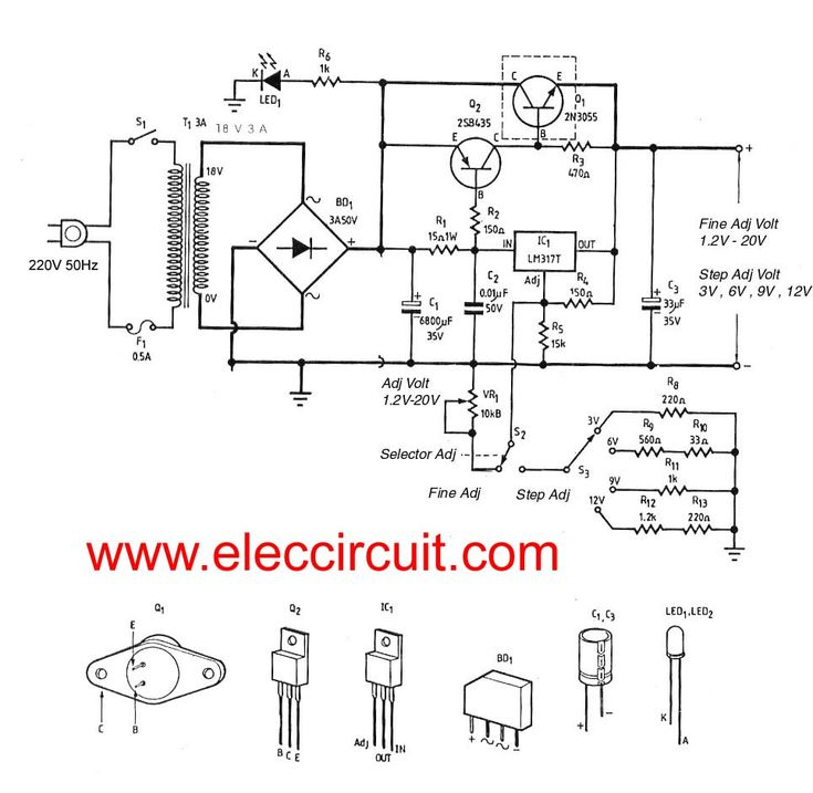 automatic voltage regulator power supply circuit electronic
