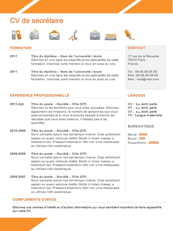 Best Resume Words Resume Buzz Words Best 25 Exemple Cv Gratuit Ideas On Pinterest