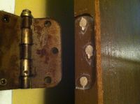 How to Repair Stripped Screw Holes for a Door Hinge ...
