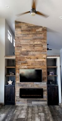 1000+ ideas about Pallet Fireplace on Pinterest