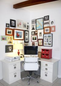 Small corner home office