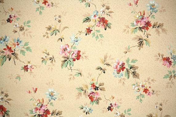 Cath Kidston Vintage Racing Car Wallpaper 1940 S Vintage Wallpaper Pink And Blue Floral Vintage