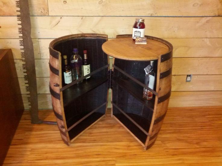 How To Make A Wine Barrel Liquor Cabinet
