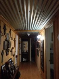 Barn tin ceiling in our hallway | cabin ideas | Pinterest ...