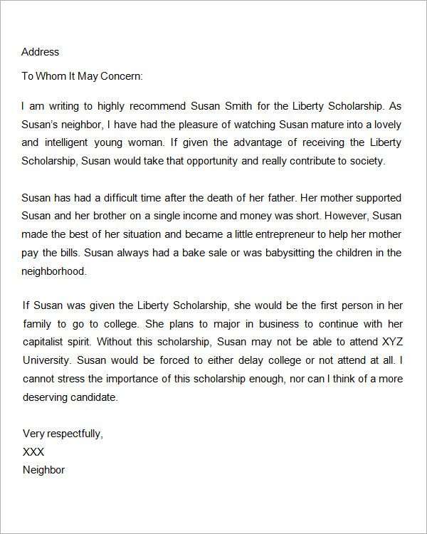 letter of recommendation power words