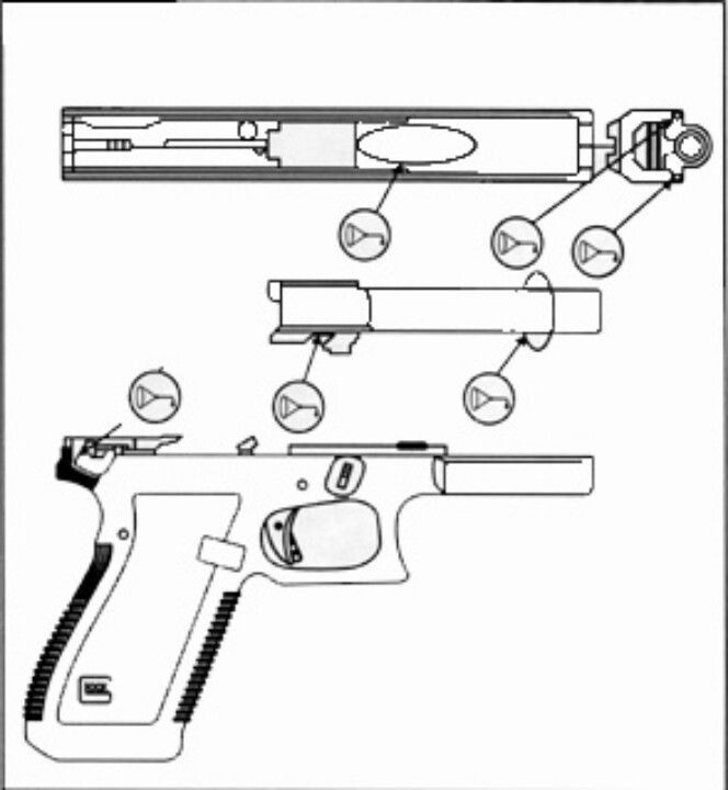 oiling diagram for glock pistols