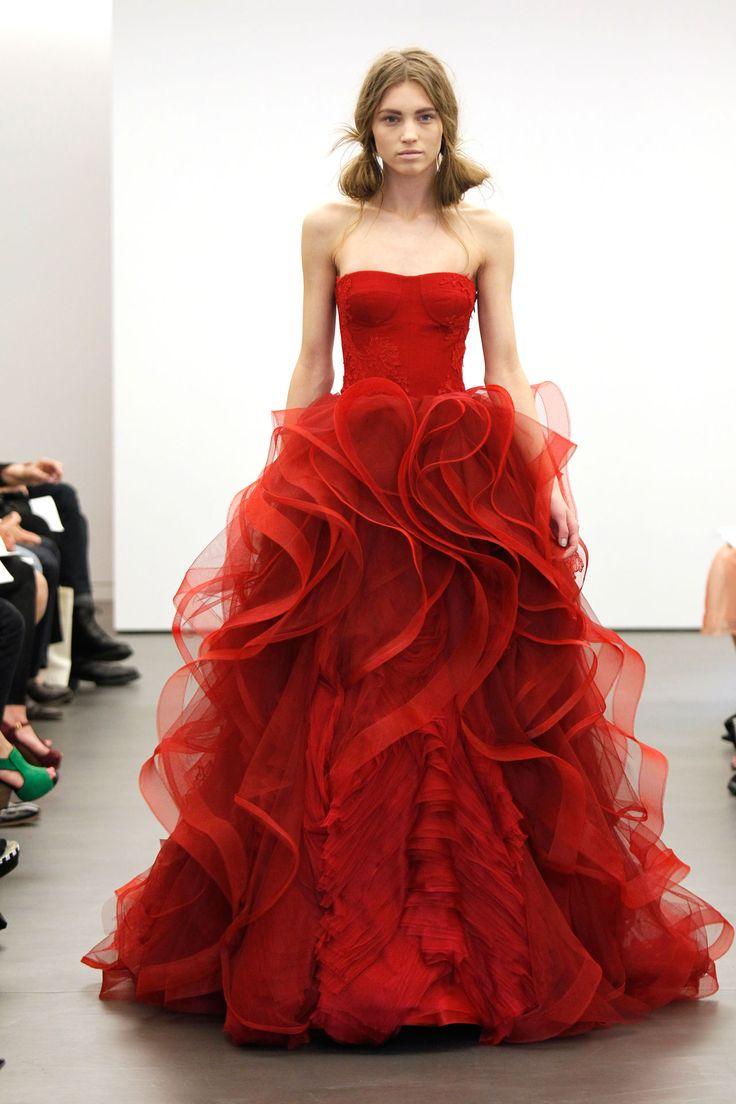 wedding dresses red wedding dress Incredible red wedding dress from Vera Wang BridesMagazine co uk