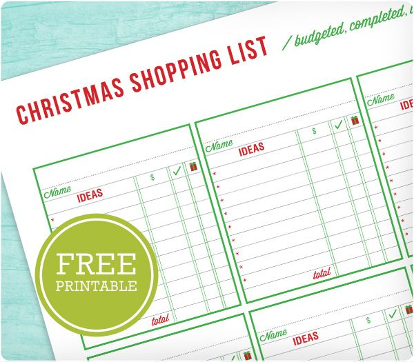 17 Best Images About Christmas Planner Printables On Pinterest