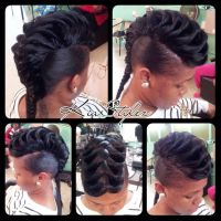 Black hair fishtail style. | Braids braids braids ...